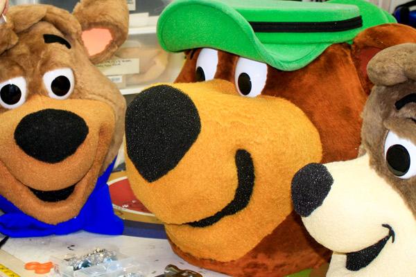 Yogi bear and friends mascot heads