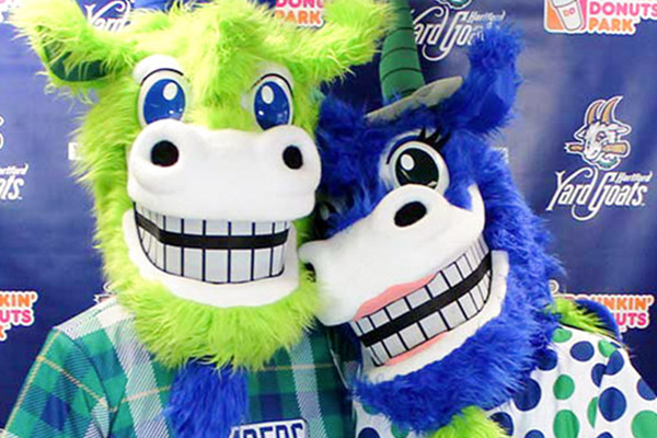 Chompers and Chew Chew Baseball Mascots