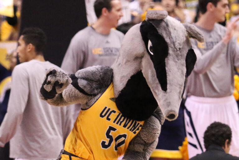 UC Irving Mascot at Basketball Game