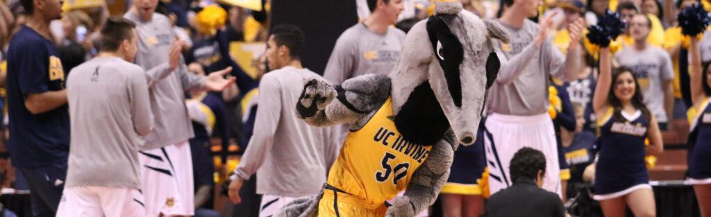 UC Irvine Mascot Running