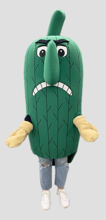 okra mascot costume