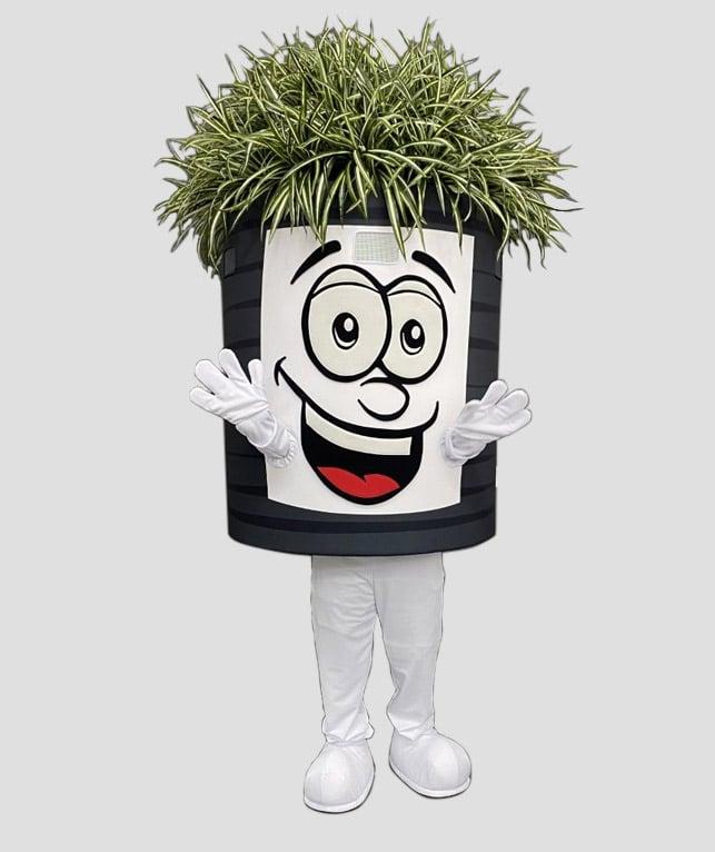 Smart Pots mascot costume Phil da Pot