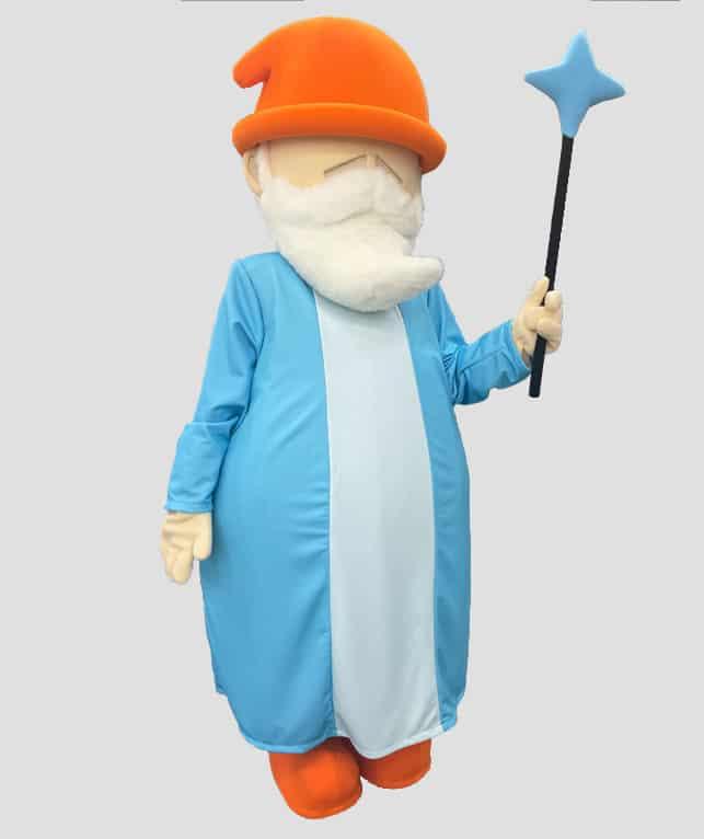 Wizard mascot costume made for Wizza