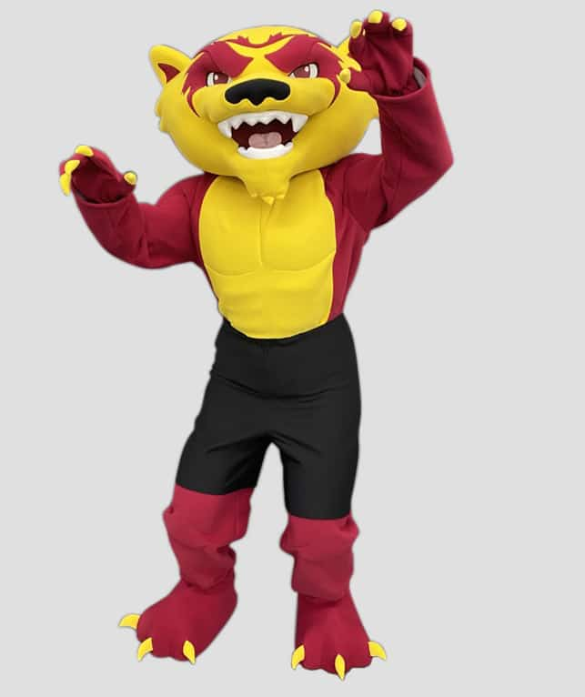 Wolverine mascot for Tolleson Union Highschool